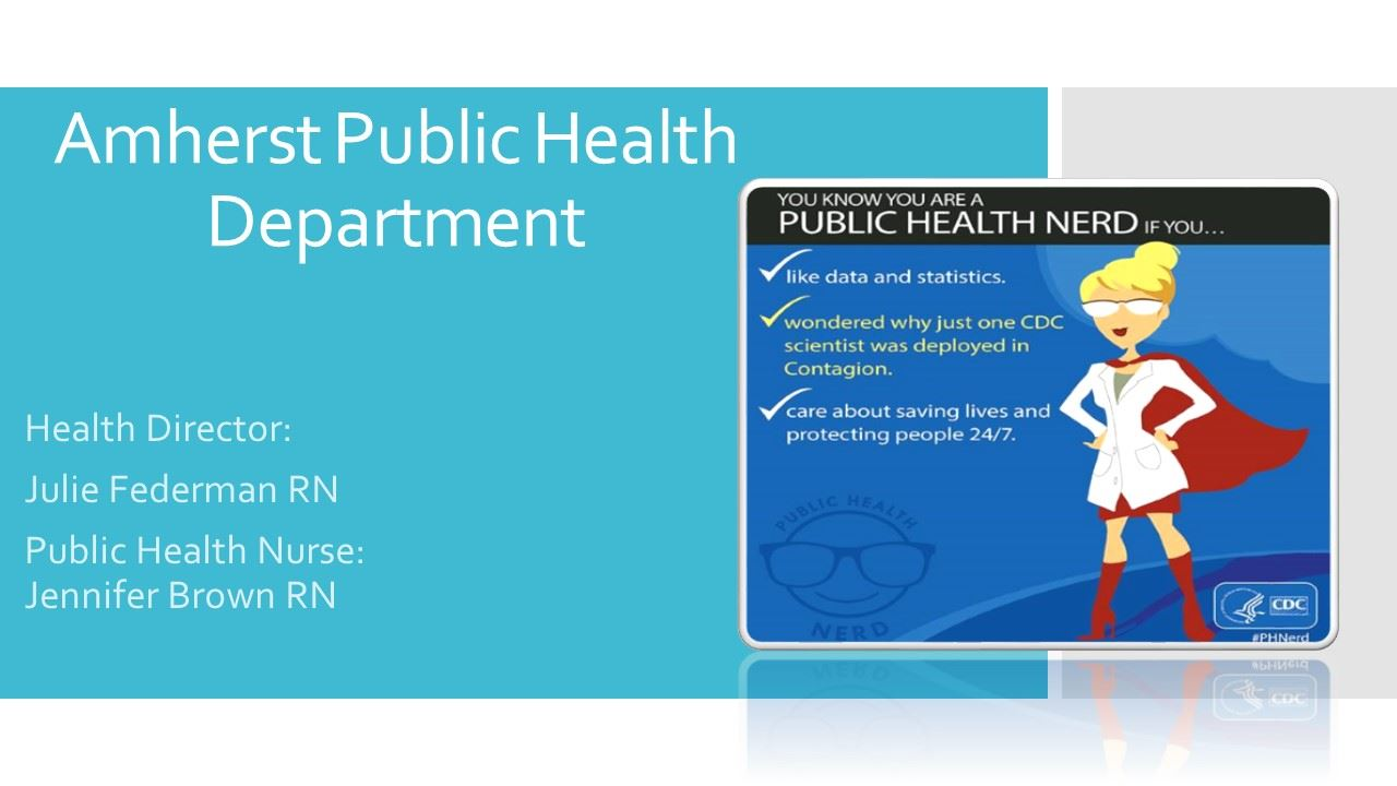 Amherst Public Health Department Slide